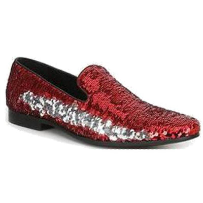 Giorgio Brutini Cohort Loafer - Red/Silver Shoes - Dapperfam.com