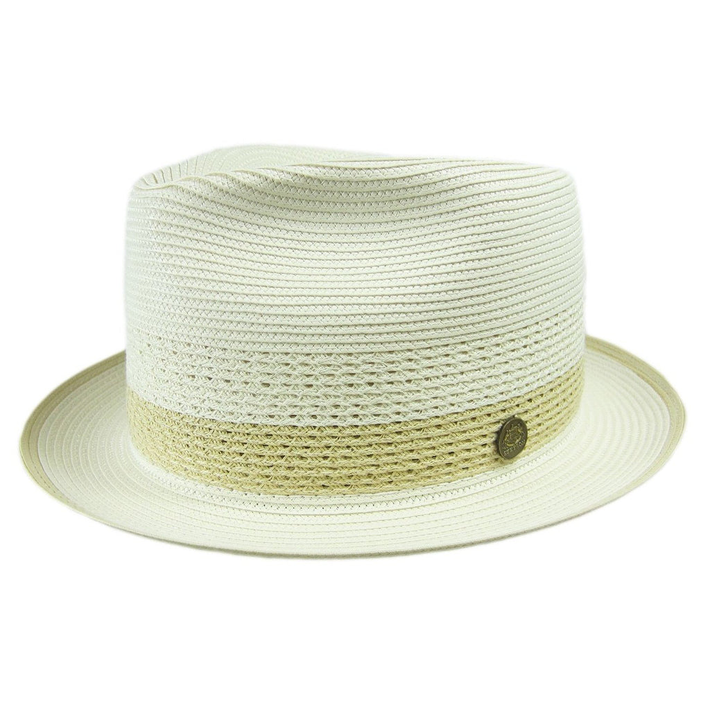 Stetson Cool Way Vented Fedora - Beige / Sand Hat - Dapperfam.com