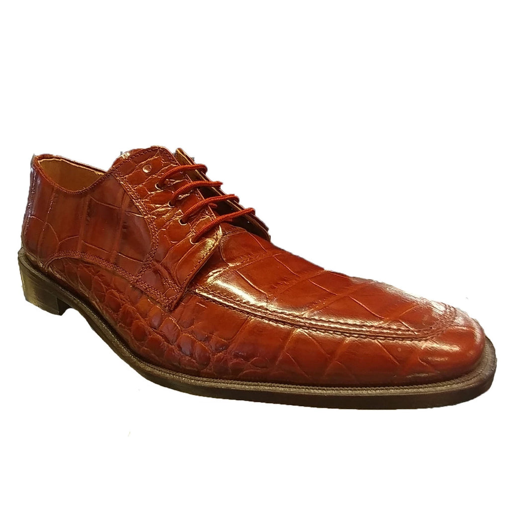 Giorgio Brutini Lace Up Oxford - Mid Brown Shoes - Dapperfam.com
