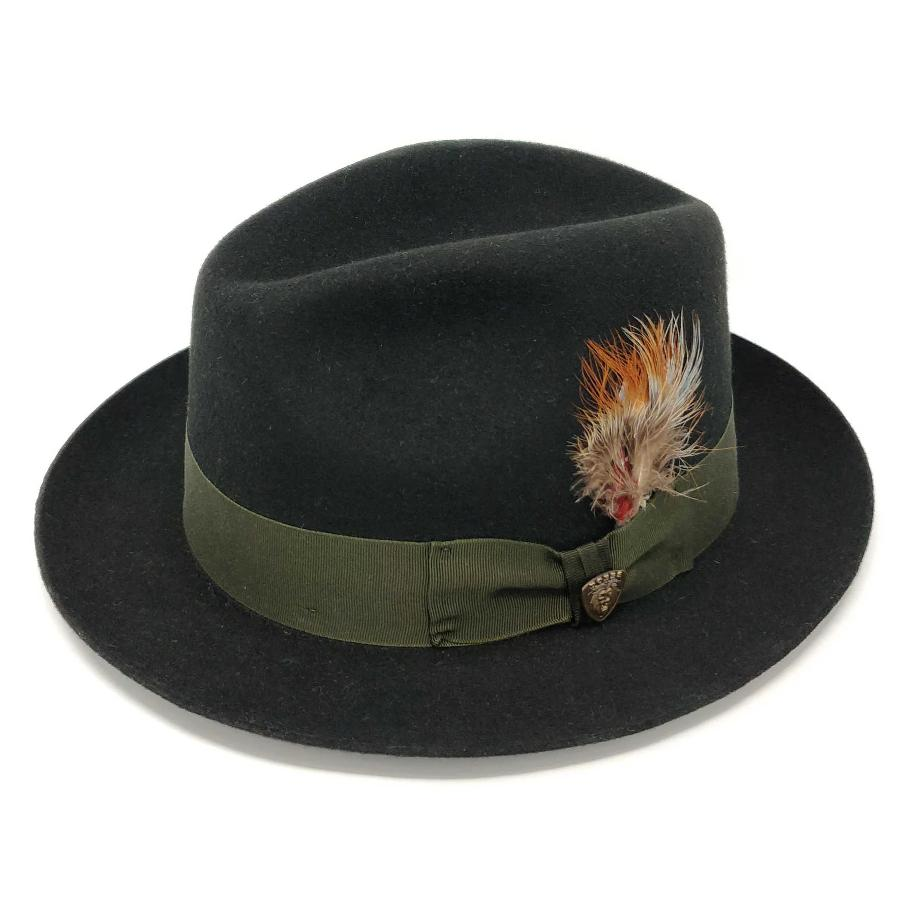 Barrington Center Dent Wool Felt Fedora Hat - Dapperfam.com