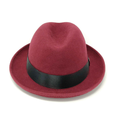Dobbs Boulevard Center Dent Wool Felt Homburg - Dapperfam.com