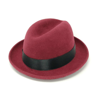Dobbs Boulevard Center Dent Wool Felt Homburg Hat - Dapperfam.com
