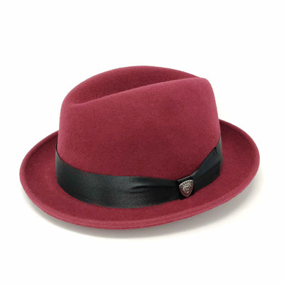 Boulevard Center Dent Wool Felt Homburg Hat - Dapperfam.com
