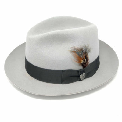 Dobbs Barrington Center Dent Wool Felt Fedora Hat - Dapperfam.com