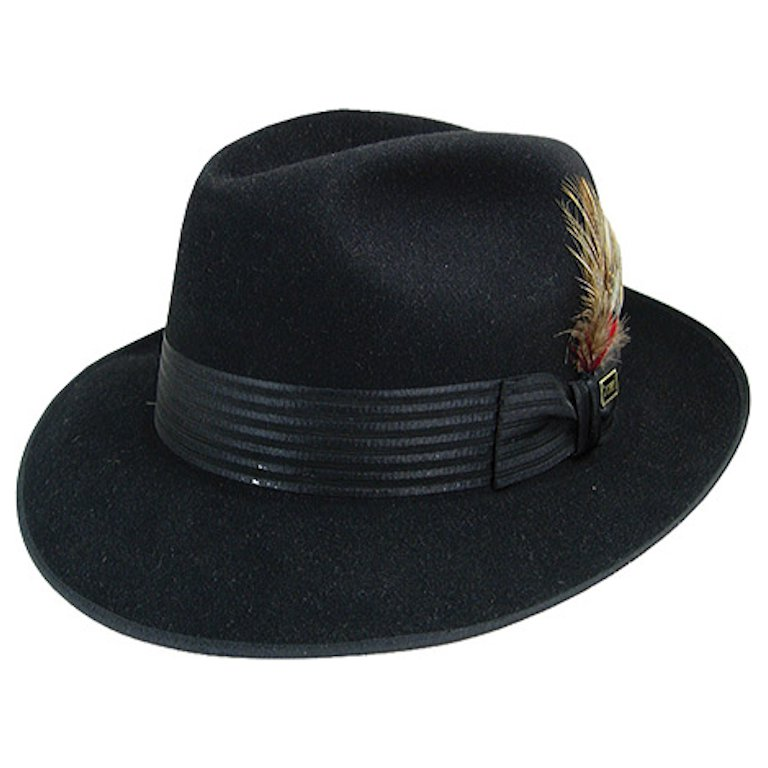 Dobbs Harvey Center Dent Fedora Hat - Dapperfam.com