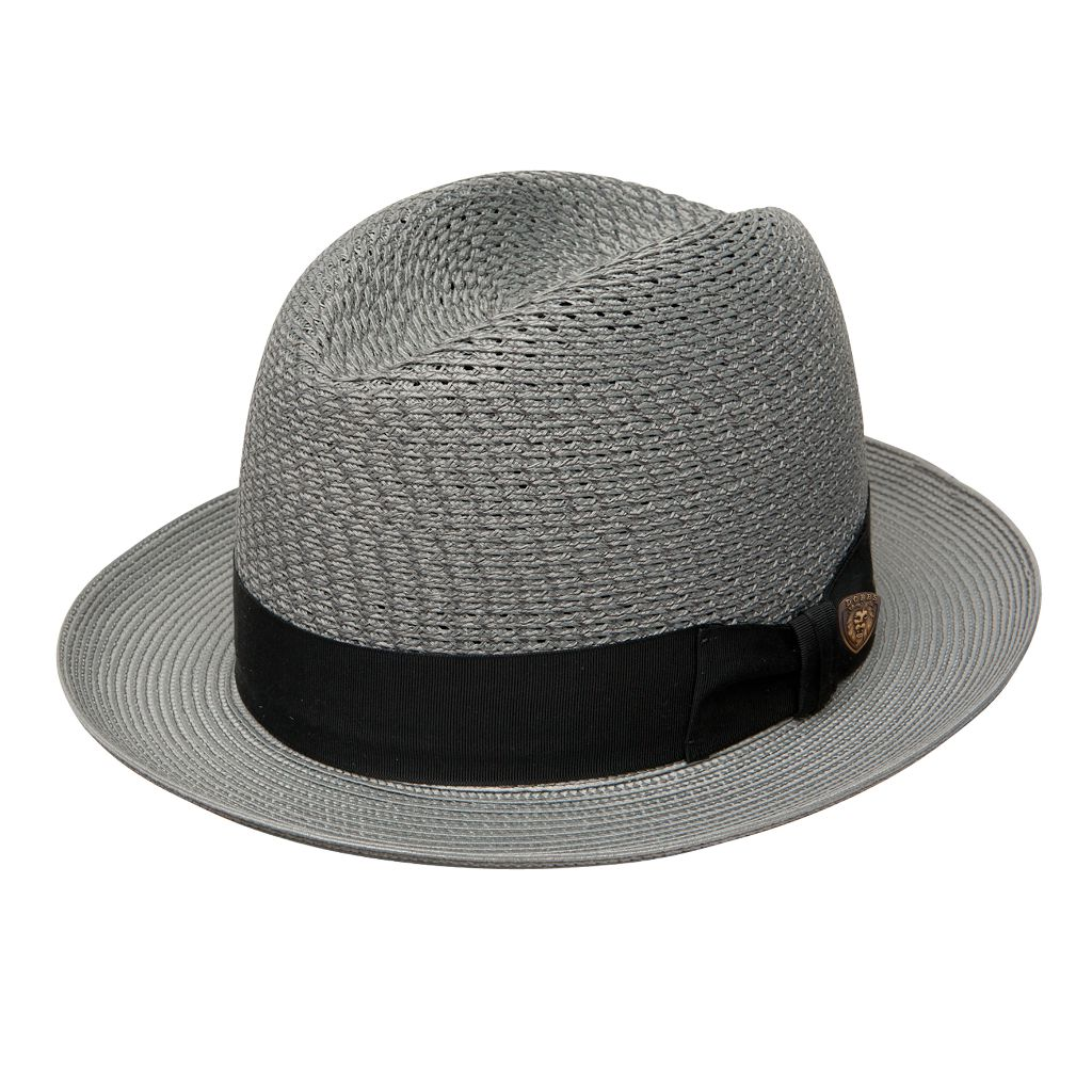 Madison Milan Straw Vented Centerdent Hat - Dapperfam.com