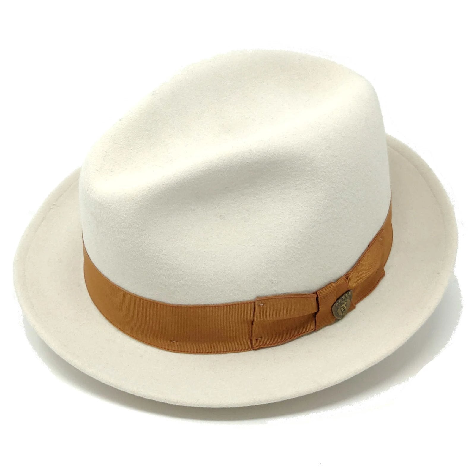 Dobbs Platypus Center Dent Wool Felt Fedora Hat - Dapperfam.com