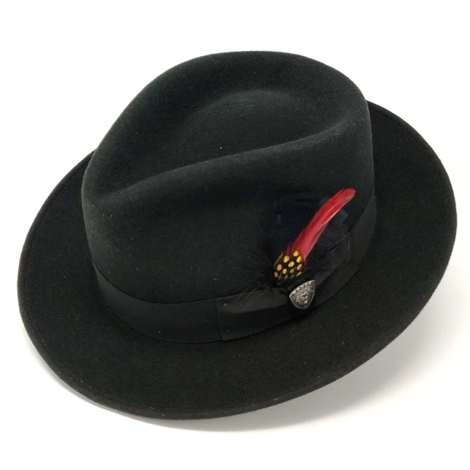 Strand II Teardrop Crown Wool Felt Fedora Hat - Dapperfam.com