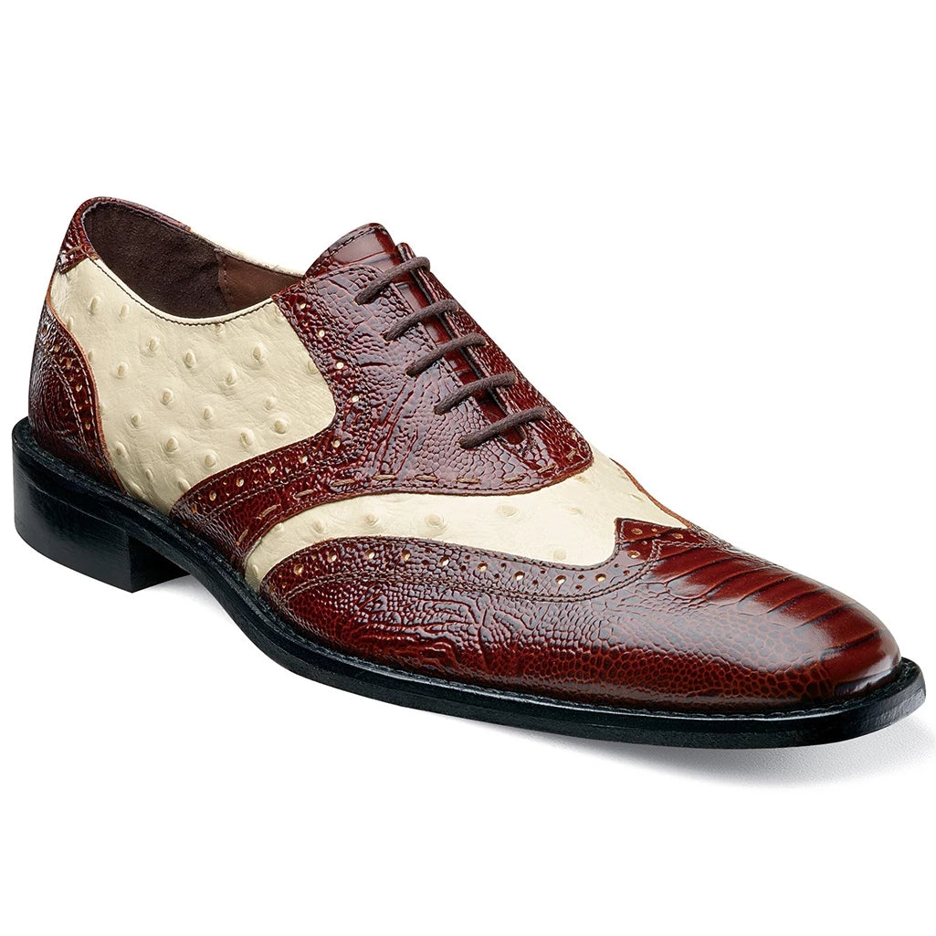Stacy Adams Armento Oxford - Cognac Multi Shoes - Dapperfam.com