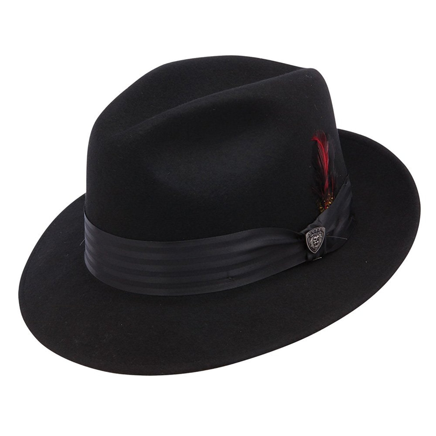Dobbs Glen Cove Wool Felt Fedora - Black Hat - Dapperfam.com