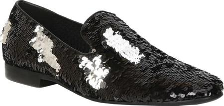 Giorgio Brutini Cohort Loafer- Black/Silver Shoes - Dapperfam.com
