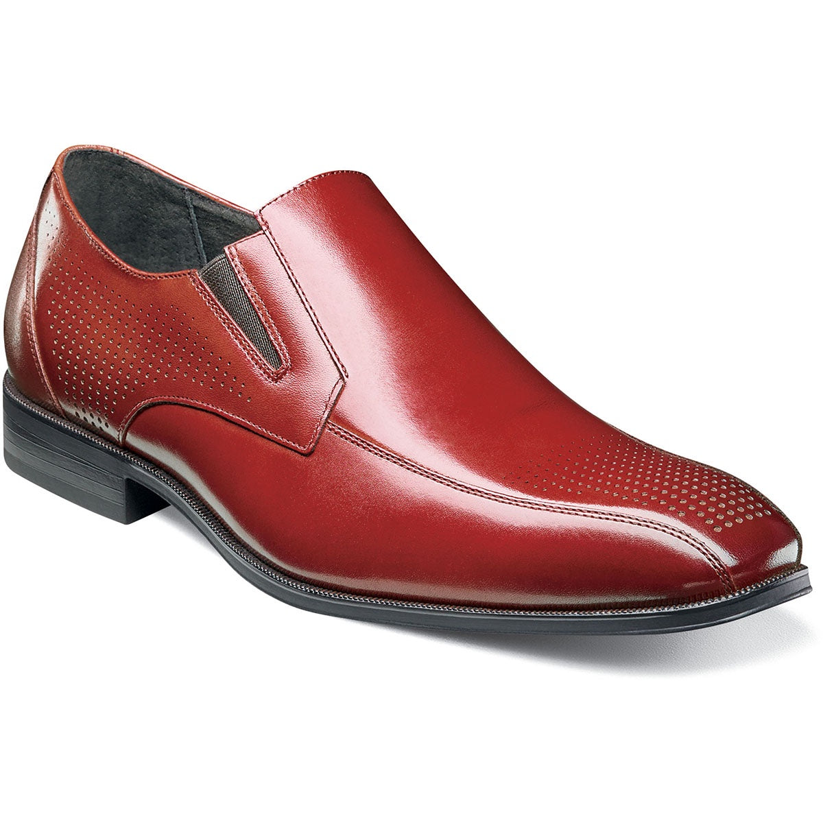 Stacy Adams Fairfax Bike Toe Slip On Oxford - Cinnamon Shoes - Dapperfam.com