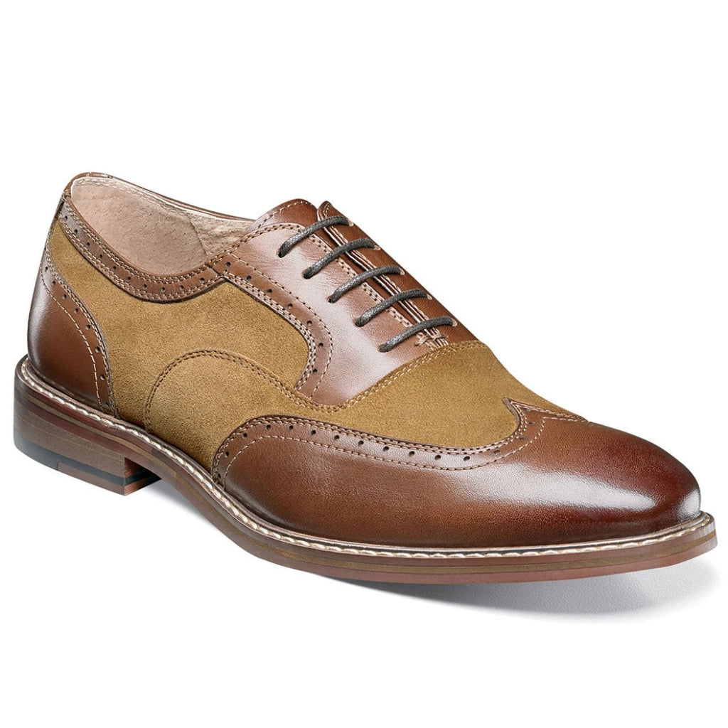 Stacy Adams Ansley Wingtip Suede Oxford - Brown Multi Shoes - Dapperfam.com
