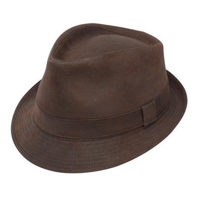 Dobbs Urban Trilby Fedora - Brown Hat - Dapperfam.com