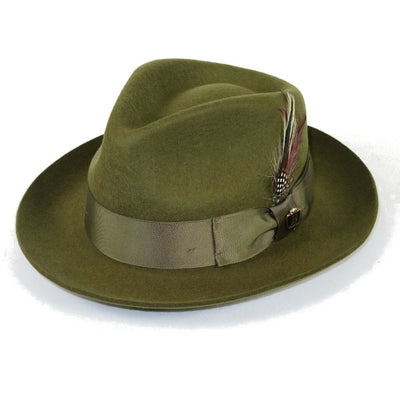 Fabio Teardrop Crown Wool Fedora Hat - Dapperfam.com