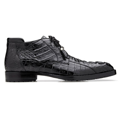 Belvedere Gaylord Hornback Crocodile Ankle Boot Shoes - Dapperfam.com