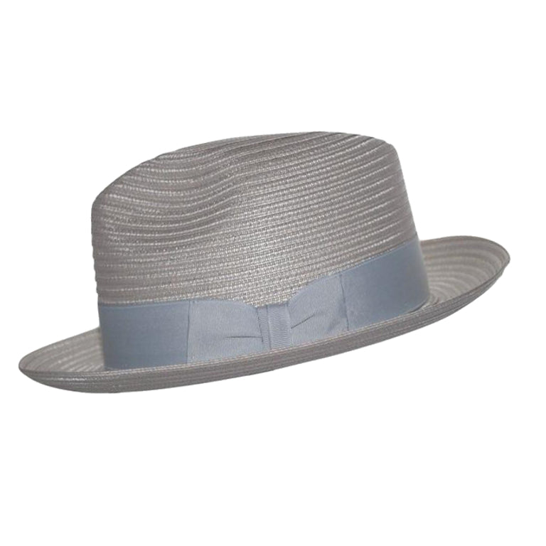 Dobbs Steve Harvey Milan Straw Fedora - Grey Hat - Dapperfam.com