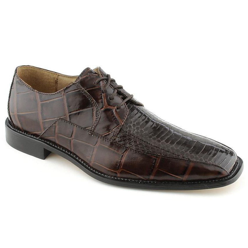 Stacy Adams Jaxon Lace Up Square Toe - Brown Shoes - Dapperfam.com