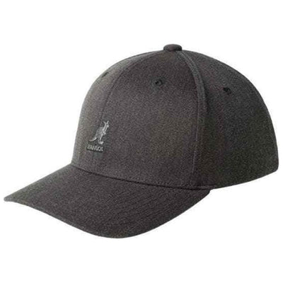 Kangol Wool Flexfit Baseball Cap - Dark Heather Gray Hat - Dapperfam.com