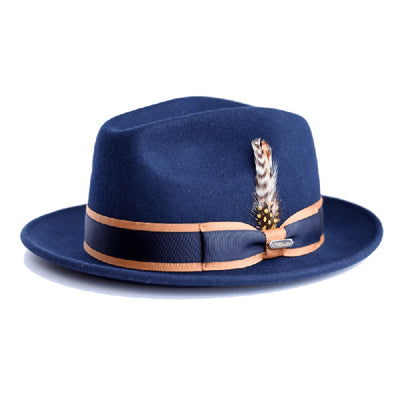 Steven Land London Collection Wool Fedora Hat - Dapperfam.com