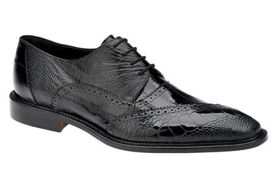 Nino - Black Eel & Ostrich Oxfords