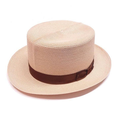Dobbs Optimo Milan Straw Boater - Beige Hat - Dapperfam.com