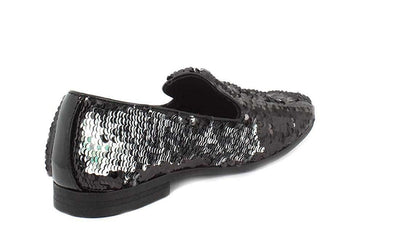 Giorgio Brutini Cohort Loafer - Black/Silver Shoes - Dapperfam.com
