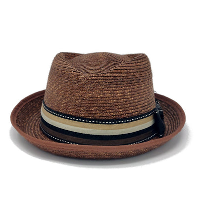 Clement Diamond Crown Straw Fedora Hat - Dapperfam.com
