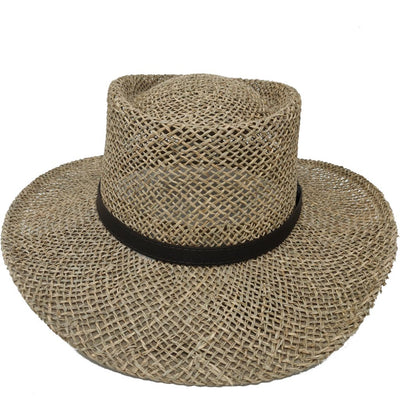Gambler Seagrass Outdoorsman Hat Hat - Dapperfam.com