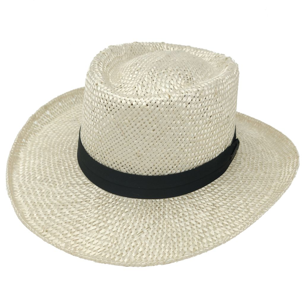 Muldoon Straw Gambler Hat - Dapperfam.com
