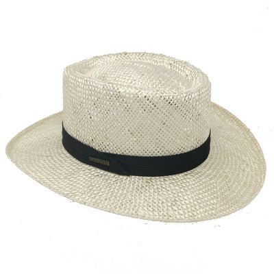 Muldoon Straw Gambler Hat Hat - Dapperfam.com