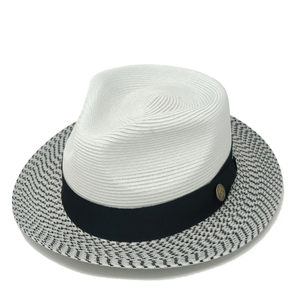 Steven Land Bel-Air Straw Fedora - Dapperfam.com