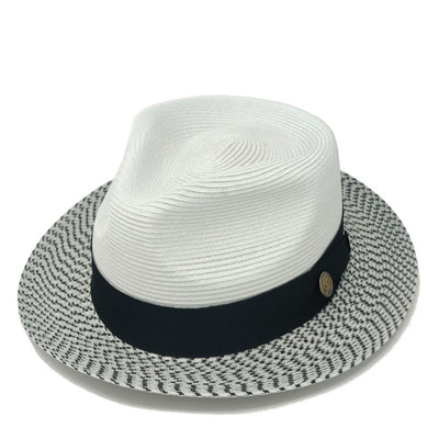 Steven Land Bel-Air Straw Fedora Hat - Dapperfam.com