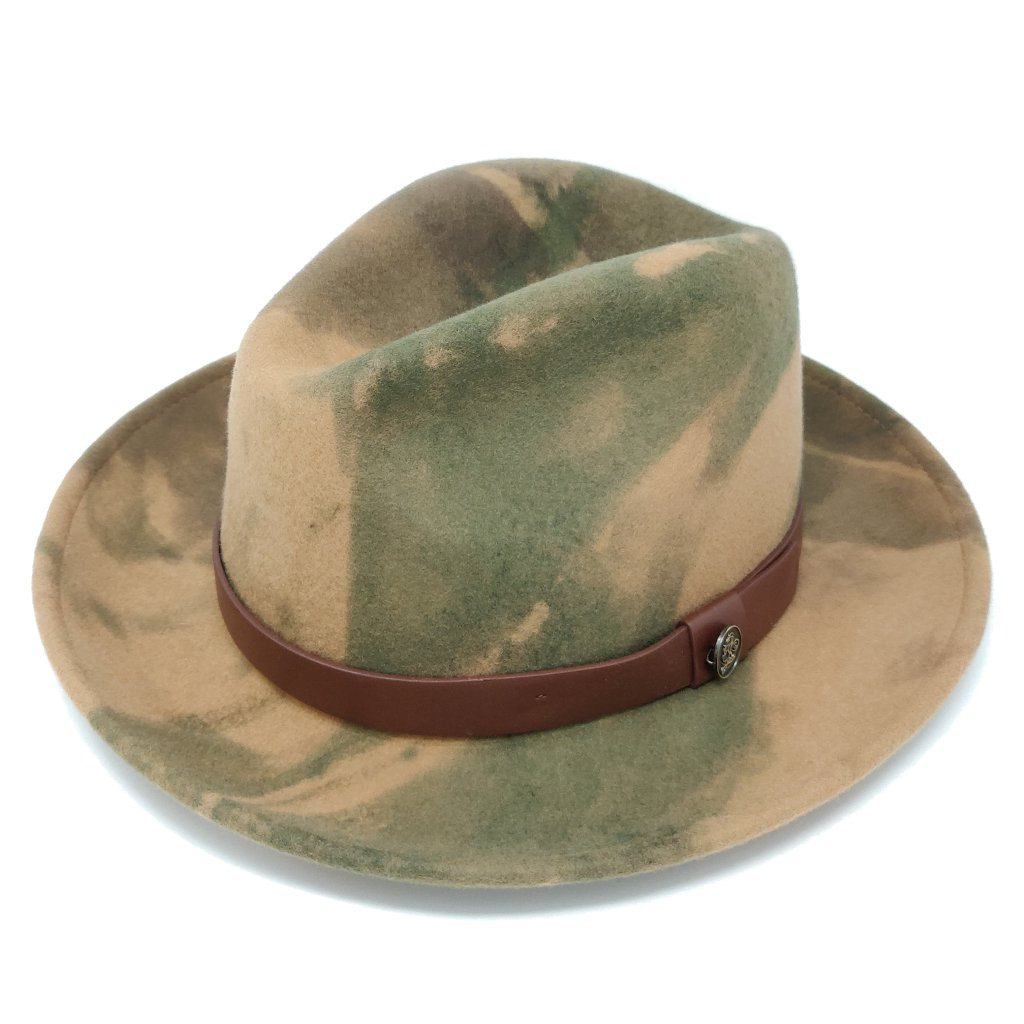 Steven Land Harlem Center Dent Fedora Hat - Dapperfam.com