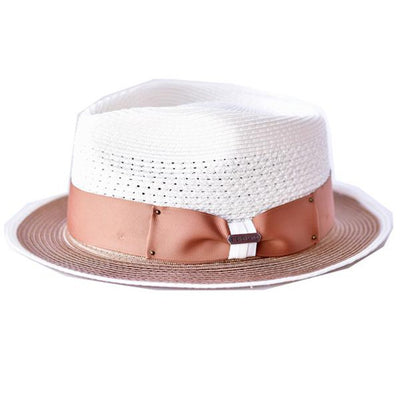 Jersey Two-Tone 100% Hemp Fedora Hat - Dapperfam.com