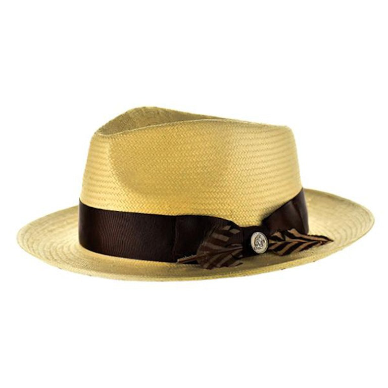 The Milan Shantung Straw Fedora Hat - Dapperfam.com