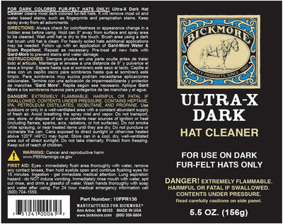Ultra-X Dark Hat Cleaner Hat Care - Dapperfam.com