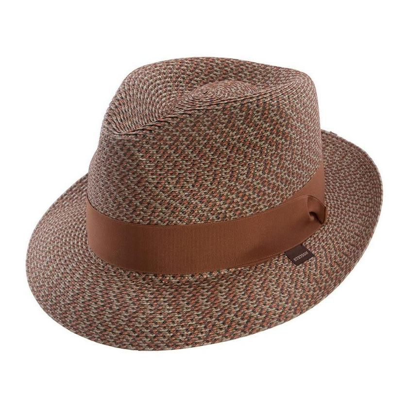Whitehall Milan Straw Braid Fedora Hat - Dapperfam.com