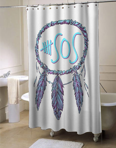 5 Second Of Summer 5sos dreamcatcher shower curtain customized design for home decor