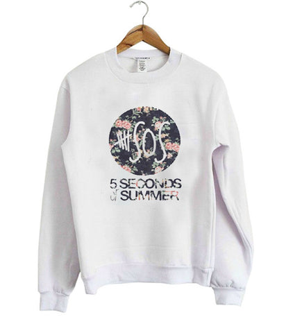 5 Seconds Of Summer Flowers Sweatshirt