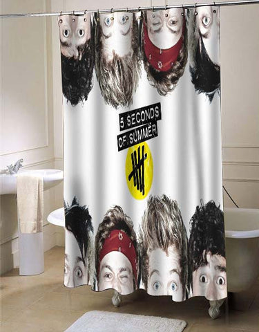 5 seconds of summer she looks so perfect shower curtain customized design for home decor