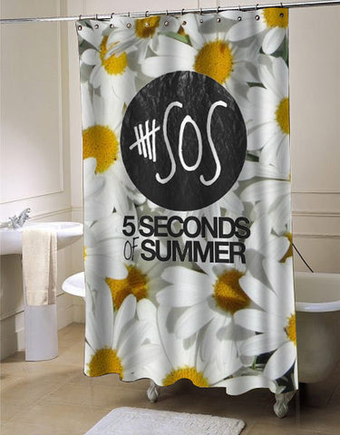 5sos sun flower shower curtain customized design for home decor