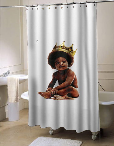 Big notorious notorious big biggie smalls shower curtain customized design for home decor