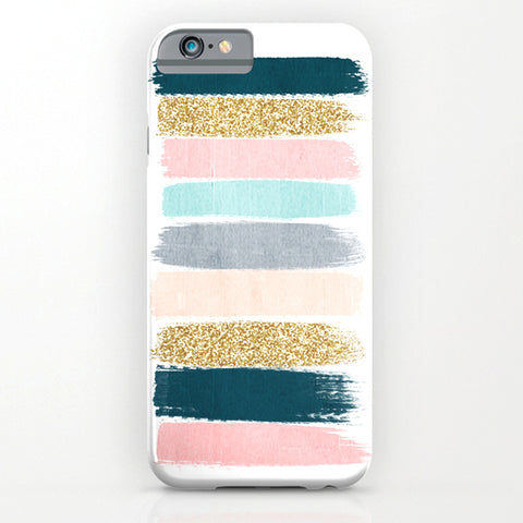 Brushstroke glitter trendy girly art print Phone Cover