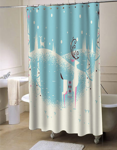 Christmas Card WIP shower curtain customized design for home decor