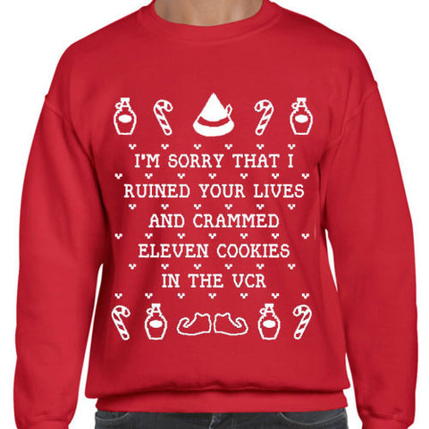 Cookies Crammed VCR - Ugly Christmas Sweater