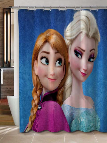 Disney Frozen Elsa Anna shower curtain customized design for home decor