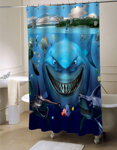 Finding Nemo shower curtain customized design for home decor
