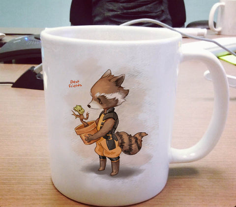 Groot and Rocket Racoon Ceramic Mug