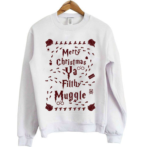 Merry Christmas Ya Filthy Muggle Harry Potter Shirt Ugly Christmas Sweatshirt